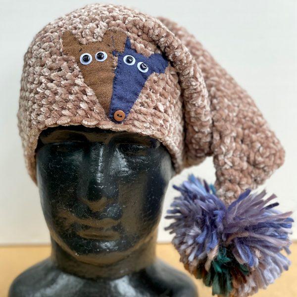 Greyhound beanie hand knitted