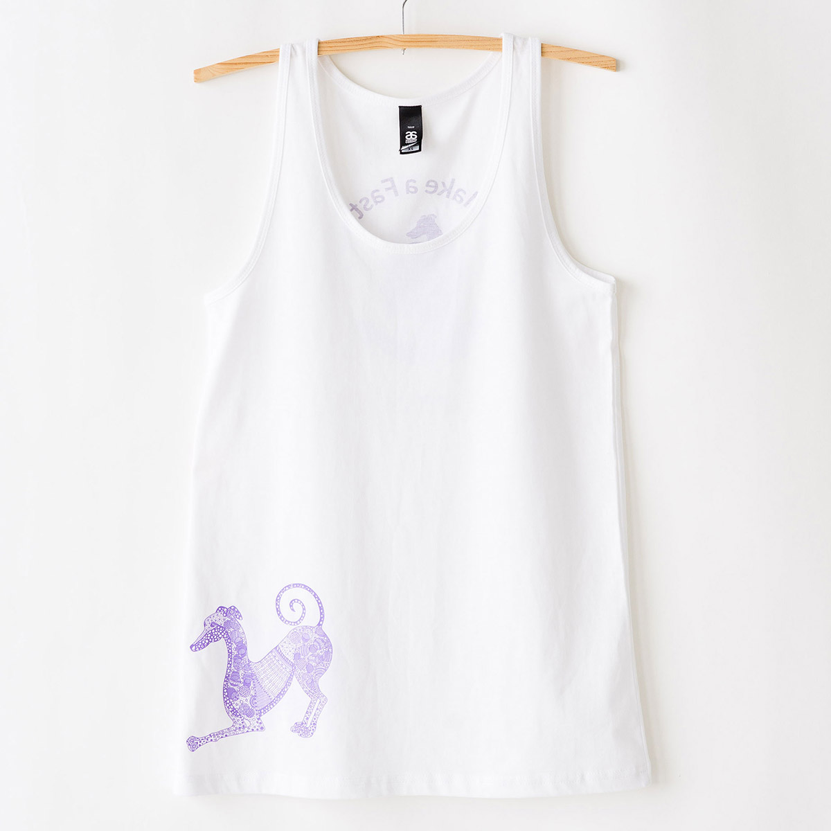 Womens greyhound singlet white