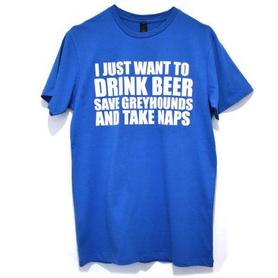 Men's Beer Tshirt Aztec Blue & White