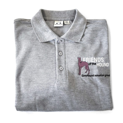 Friends of the Hound Team Polo Shirt – Grey
