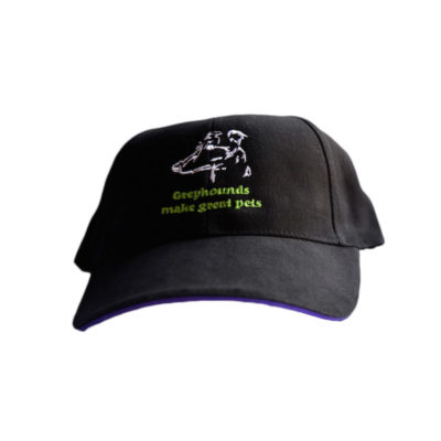 Greyhounds make great pets cap