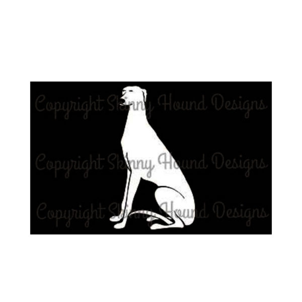 Vinyl Car Decal Sitting Greyhound