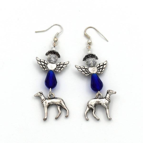 Greyhound angel earrings