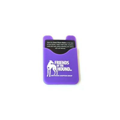 Smart phone wallet purple