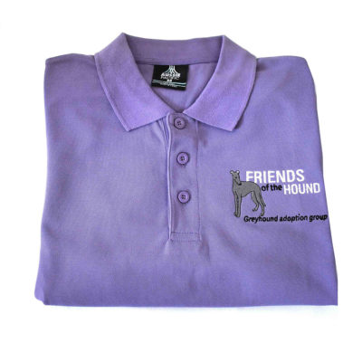 Friends of the Hound Team Polo Shirt – purple