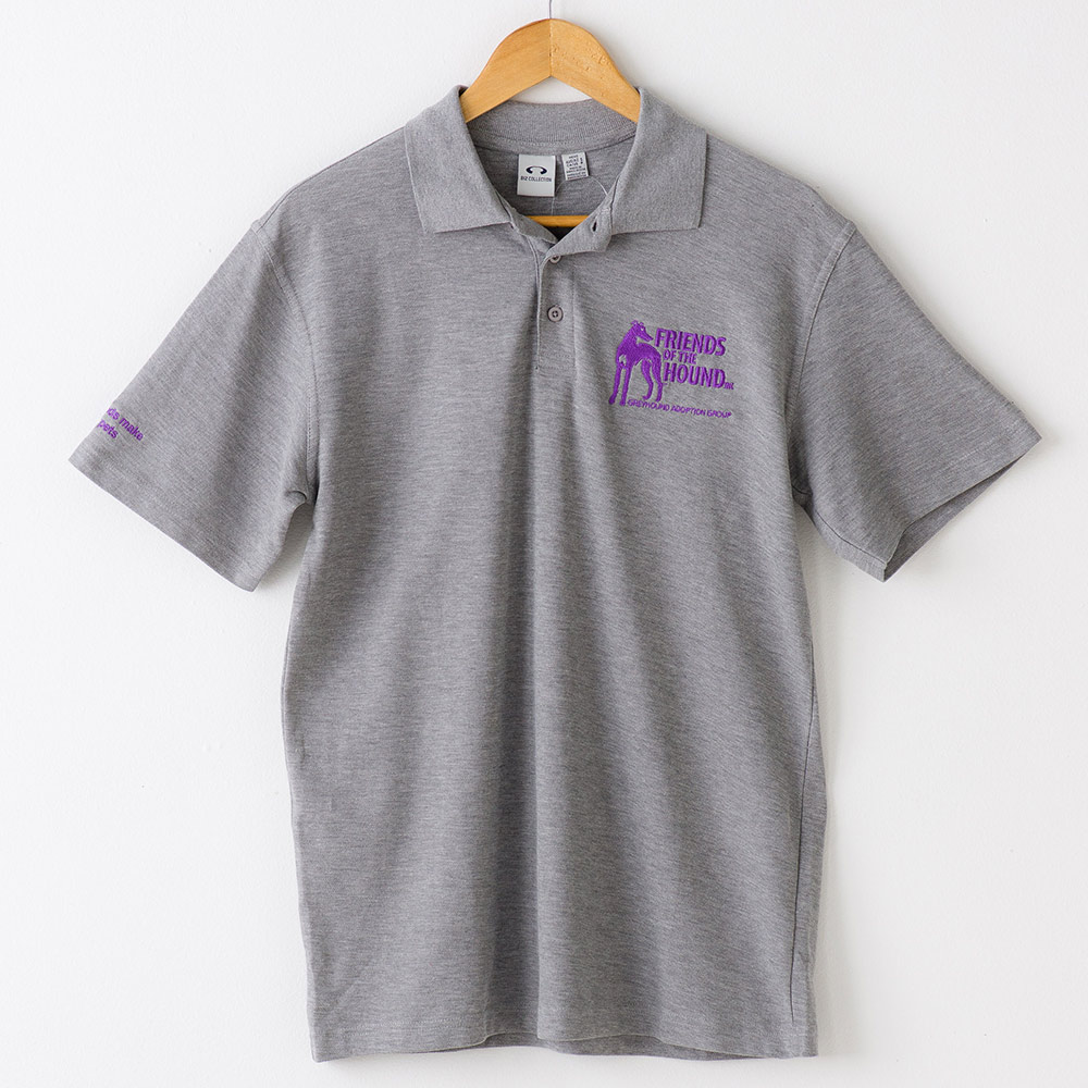 Men's Friends of the Hound polo shirt in Light Grey
