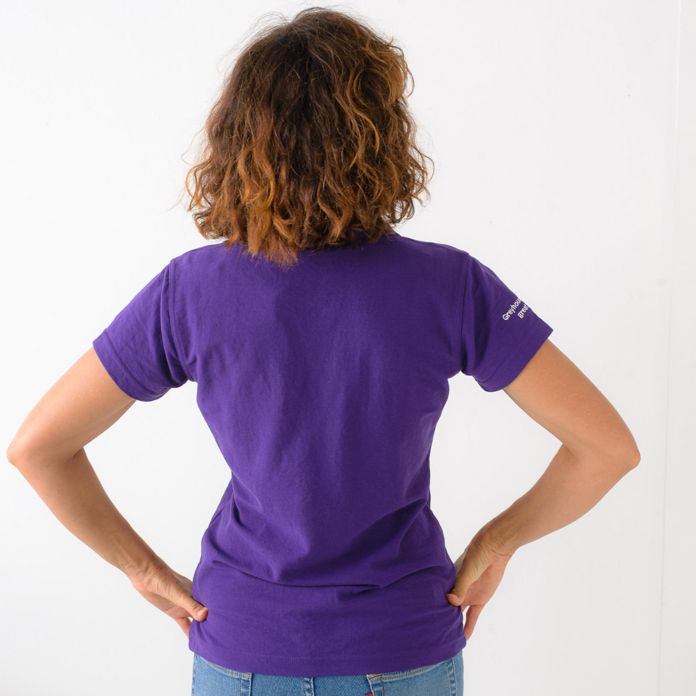 Women's Friends of the Hound polo shirt in Purple