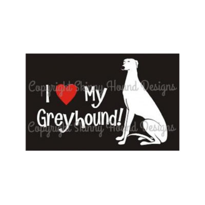 Car decal - I love my greyhound