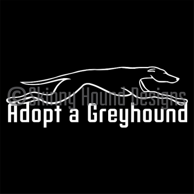 Car decal - Adopt a greyhound
