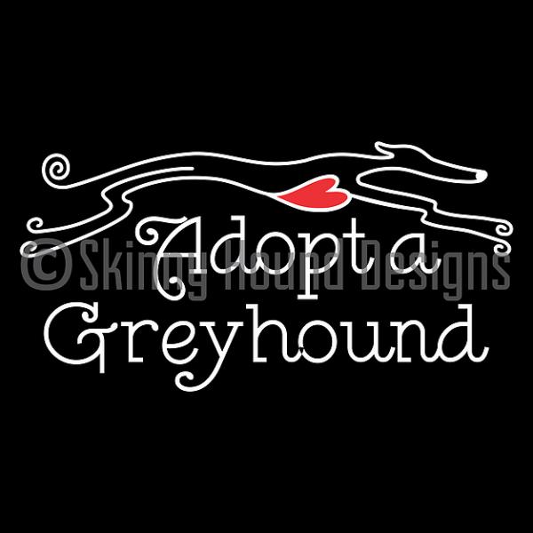 Car decal - Adopt a greyhound