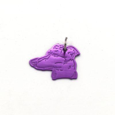 Greyhound key ring