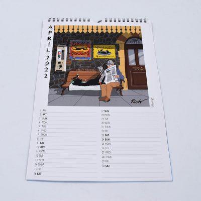 "2022 Richard Skipworth ""Lockdown Doodles"" calendar"