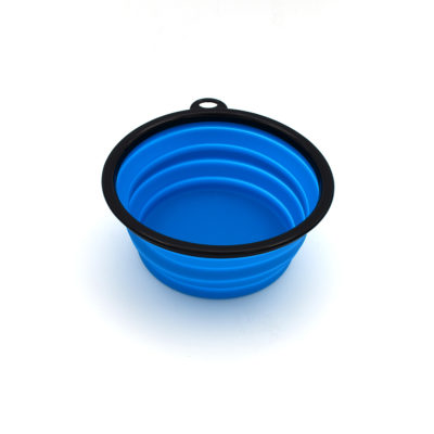 Collapsible water bowl – blue