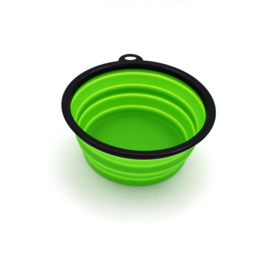 Collapsible water bowl – green