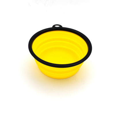 Collapsible water bowl – yellow