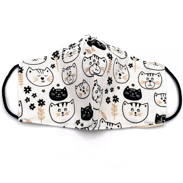 Face mask with cats
