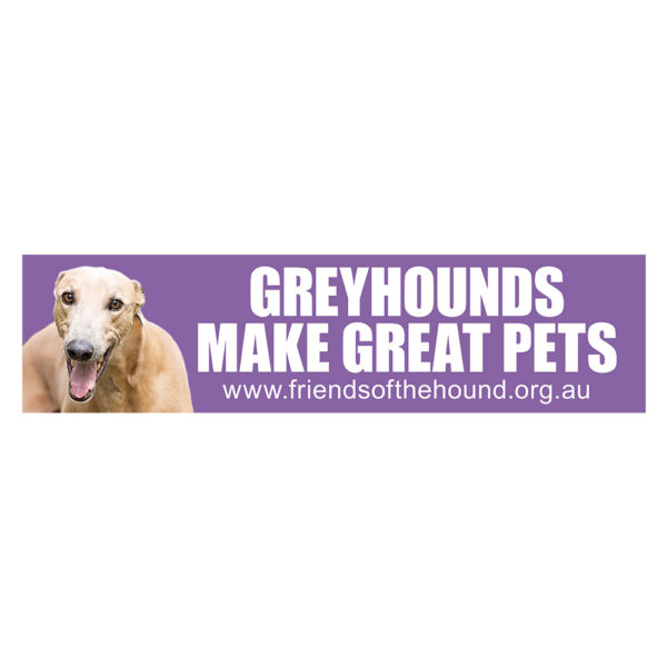 Sticker - Greyhounds make great pets