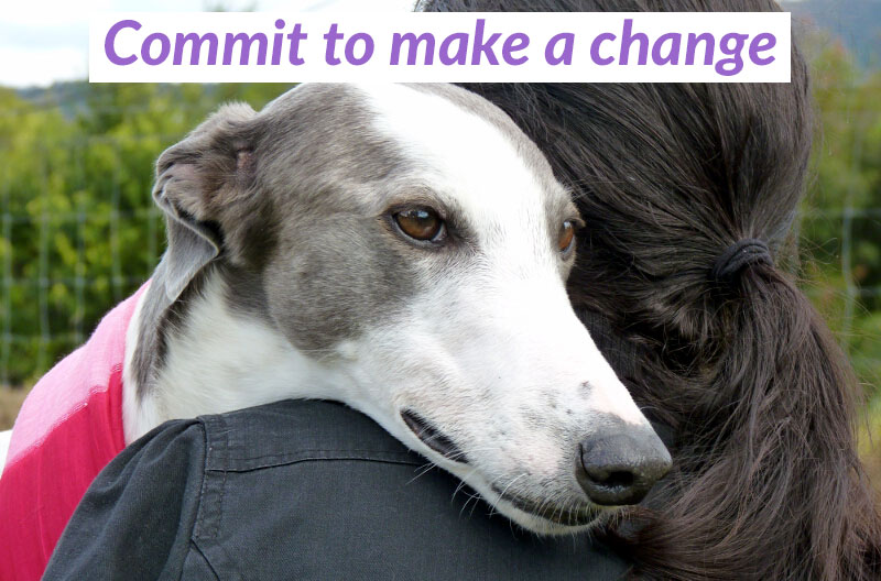 Commit to make a change