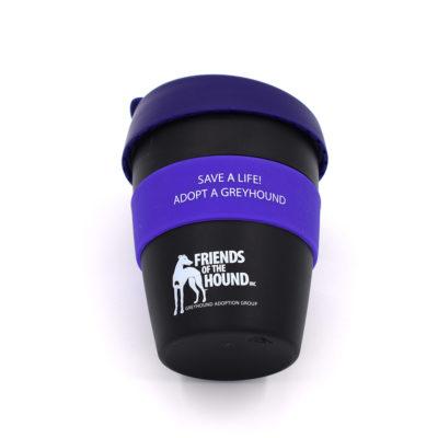 Reusable FOTH coffee cup – Black & Purple