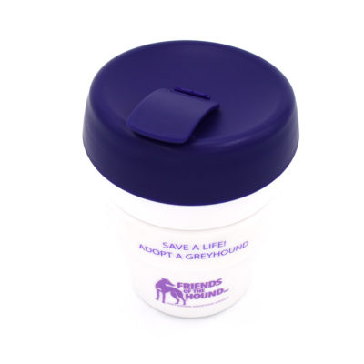 Reusable FOTH coffee cup – White & Purple