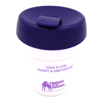 Reusable greyhound coffee cup