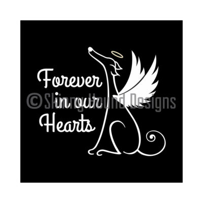Vinyl Car Decal – Greyhound Angel: Forever in our hearts