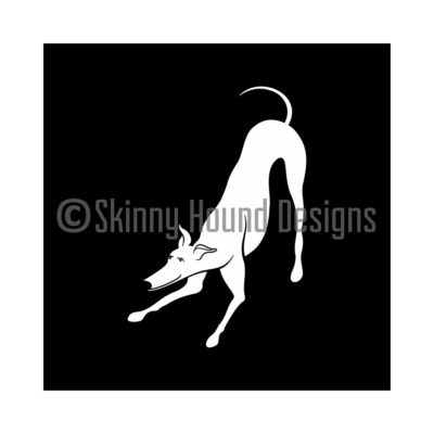 Vinyl Car Decal – Playbow Greyhound