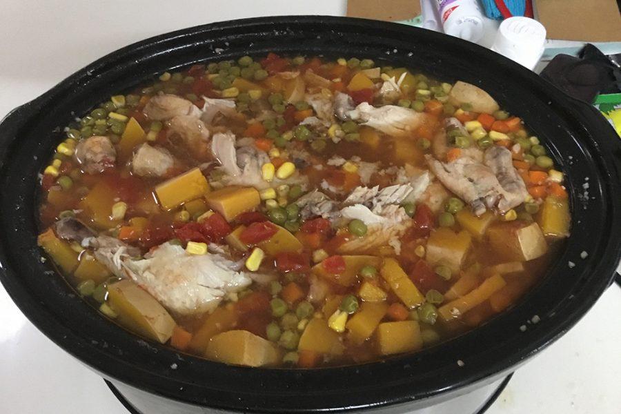Slow cooker Greyhound Mutt stew