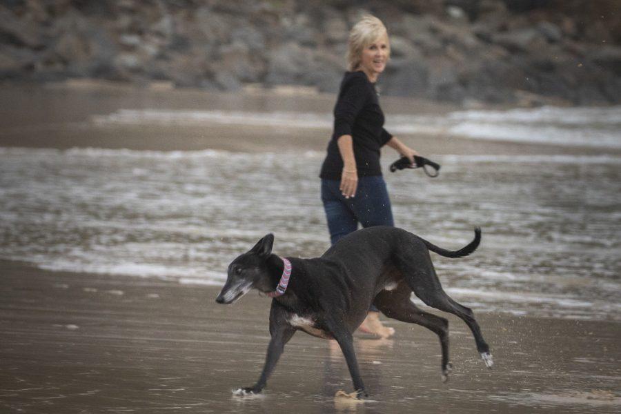 Karen & Truman the Greyhound