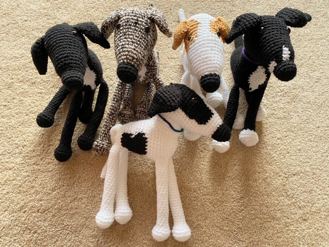 Crocheted Greyhounds