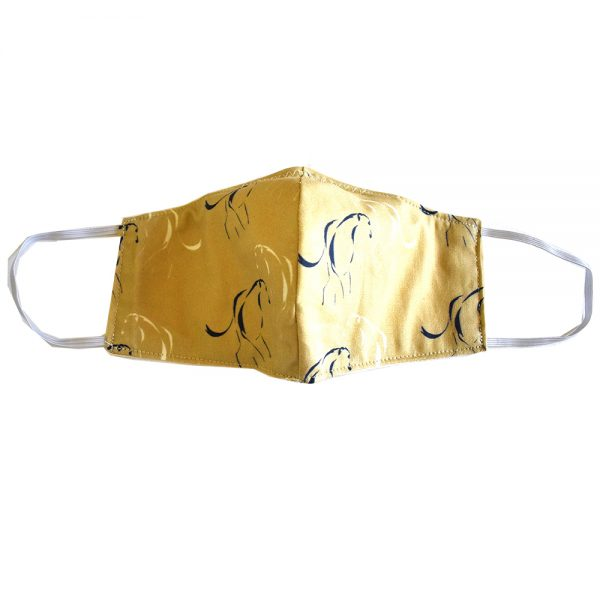 Yellow greyhound line face mask