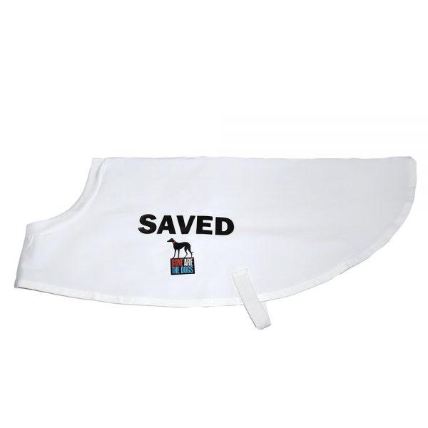 "Greyhound coat ""SAVED"""