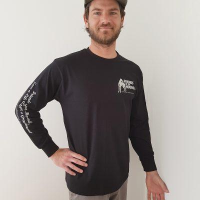 Men's long sleeve FOTH tee in Black