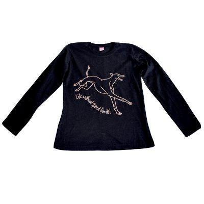 Women's cotton greyhound tshirt